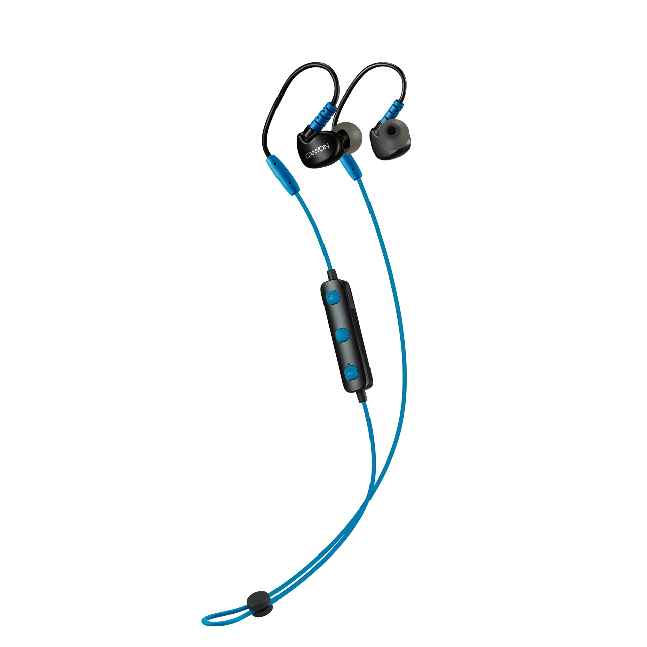 Наушники Canyon Bluetooth sport earphones with microphone blue (H2CNSSBTHS1BL)