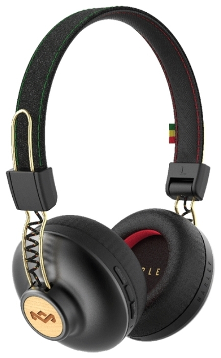 Наушники Marley Positive Vibration BT EM-JH133-RA Rasta наушники marley positive vibration xl em jh141 bl denim