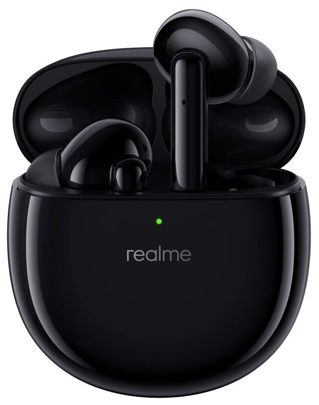 Фото - Наушники Realme Buds Air Pro RMA210 black realme buds 2 black wired 3 5mm earphones 3 button remote with mic built in magnets tangle free android phone
