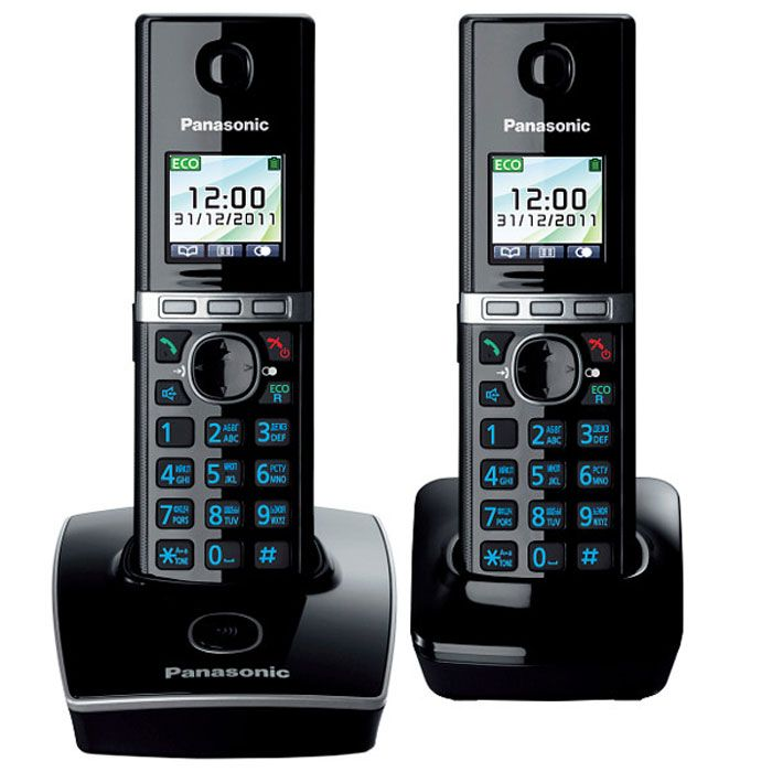 Радиотелефон Panasonic KX-TG8052RUB Black радиотелефон philips d1401b 51 black