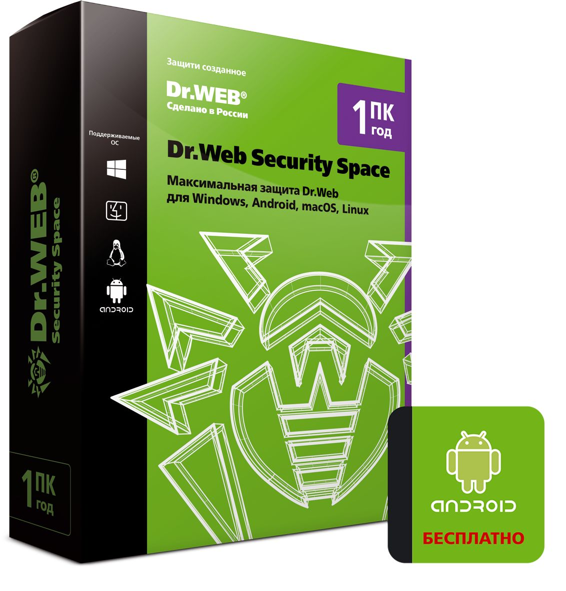 Антивирус Dr.Web Security Space на 1 год на 1 ПК [BHW-B-12M-1-A3] (Box) фото