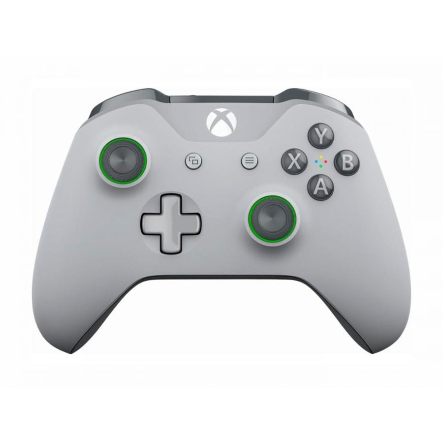 Геймпад беспроводной Microsoft Xbox One Wireless Controller Color (WL3-00061) серый/зеленый геймпад microsoft xbox one wireless controller fc barcelona