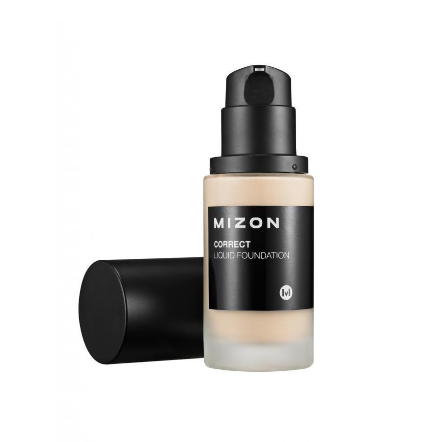 Увлажняющая тональная основа под макияж Mizon Correct Liquid Foundation SPF 25 PA++ #21 Light Вeige тональная основа catrice hd liquid coverage foundation 020 цвет 020 rose beige variant hex name f1c6a7