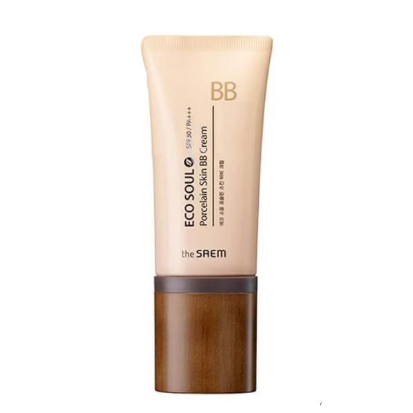 ББ Крем The Saem Eco Soul Porcelain Skin BB Cream 02 Natural Beige 45гр вв крем до и после