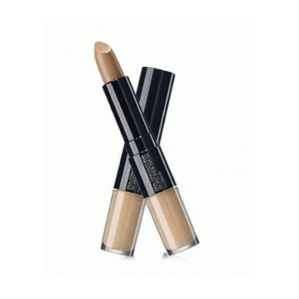 Консилер двойной The Saem Cover Perfection Ideal Concealer Duo01.Clear Beige консилер the saem cover perfection pot concealer 01 цвет 01 clear beige variant hex name d2ab8a