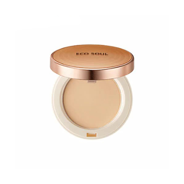 цена на Пудра компактная The Saem Eco Soul Perfect Cover Pact 21 Light Beige 11гр
