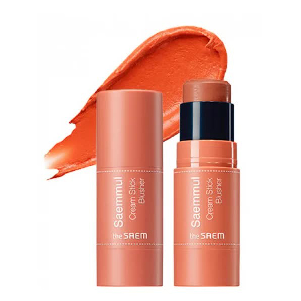 Румяна кремовые The Saem Saemmul Cream Stick Blusher OR01 Hello Orange 8гр