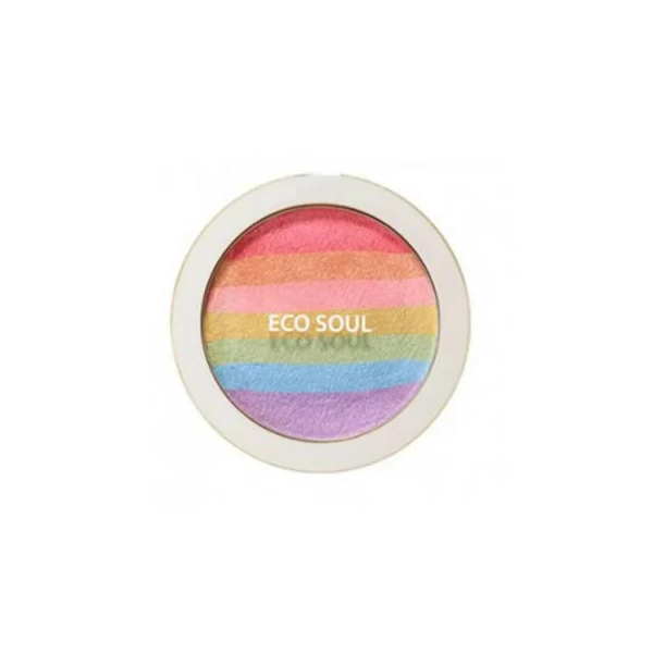 Румяна-хайлайтер компактные The Saem Eco Soul Prism Blusher 8гр недорого