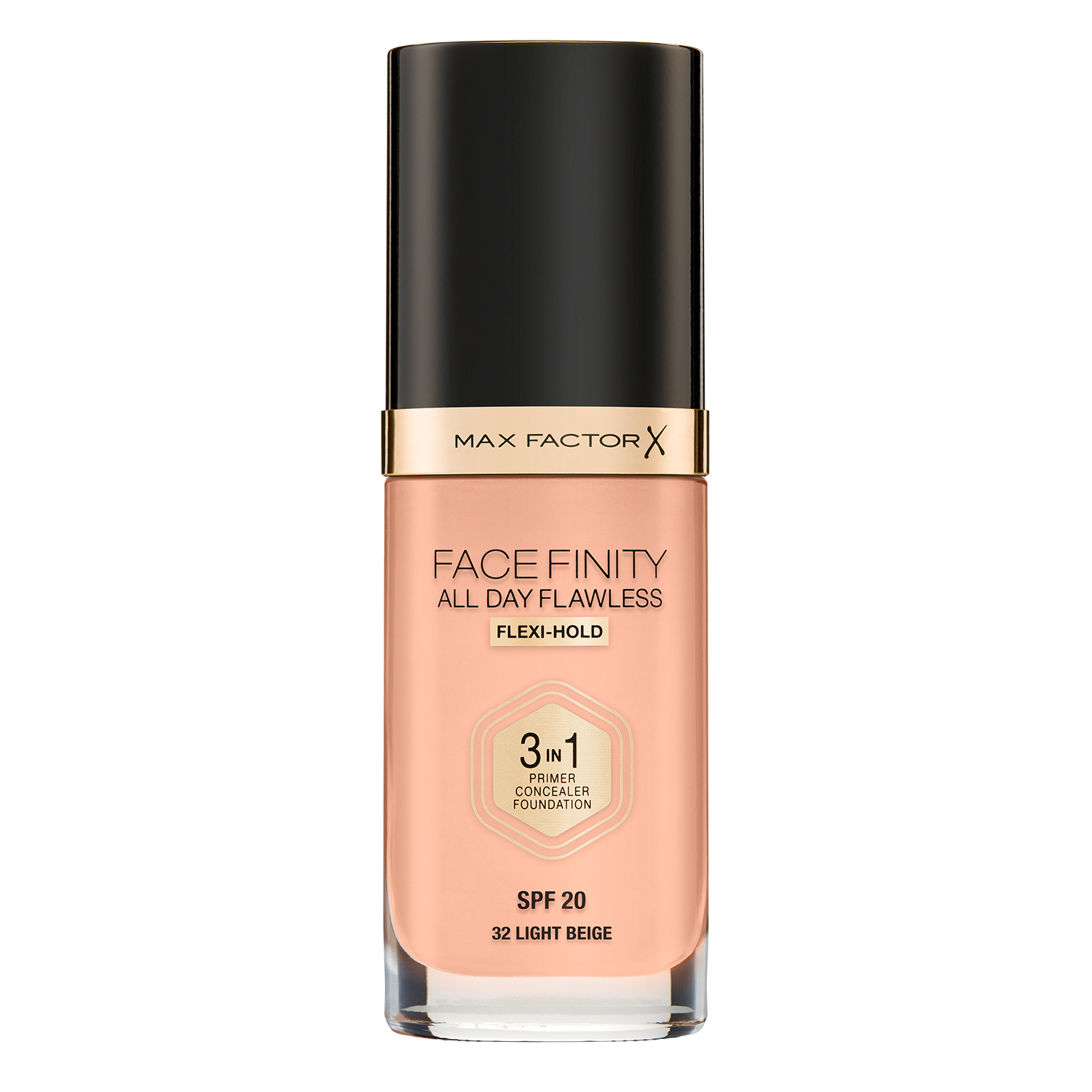Тональная основа Max Factor Facefinity All Day Flawless 3-in-1, 32 тон light beige