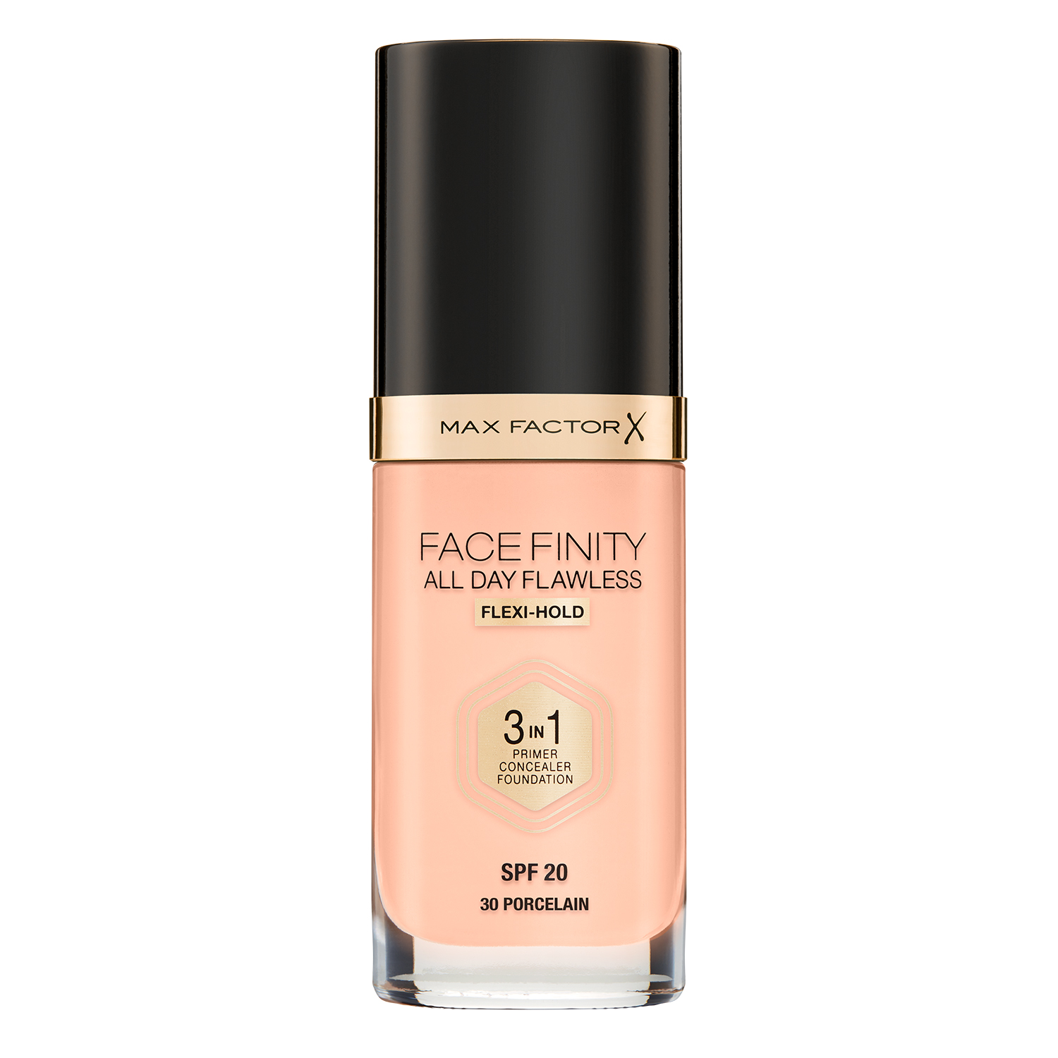 Тональная основа Max Factor Facefinity All Day Flawless 3-in-1, 30 тон procelan