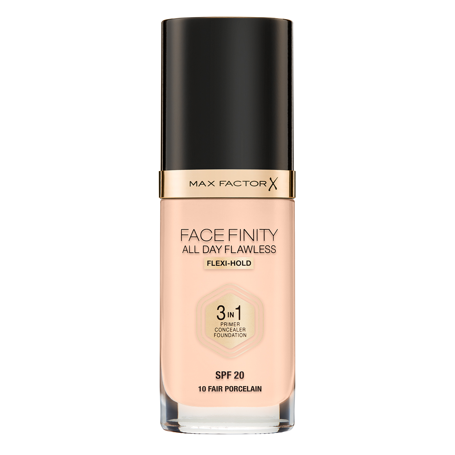 Тональная основа Max Factor Facefinity All Day Flawless 3-in-1, 10 тон fair porcelain