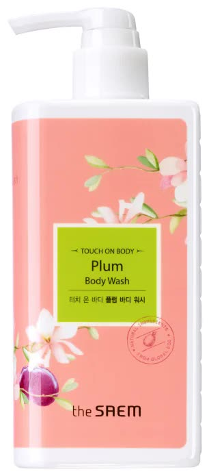 Гель для душа слива The Saem Touch On Body Plum Body Wash 300мл гель для душа грейпфрутовый grapefruit body wash 300 мл the saem touch on body page 7