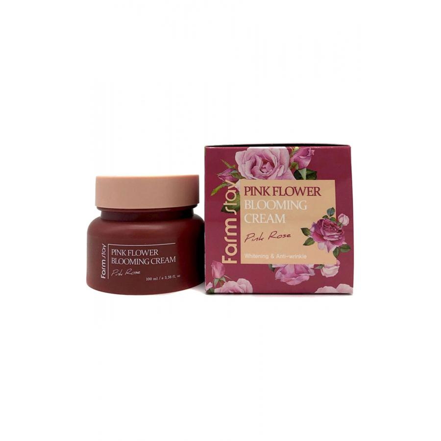 Крем для лица с экстрактом розы FarmStay Pink Flower Blooming Cream Pink Rose, 100мл