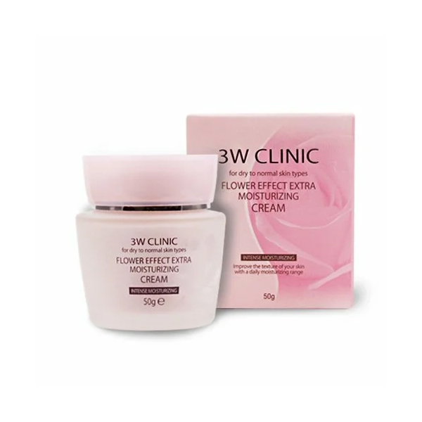 Крем для лица 3W Clinic Flower Effect Extra Moisture Cream, 50 гр осветляющий сс крем для лица 3w clinic crystal whitening cc cream spf 50 glitter beige 50 мл