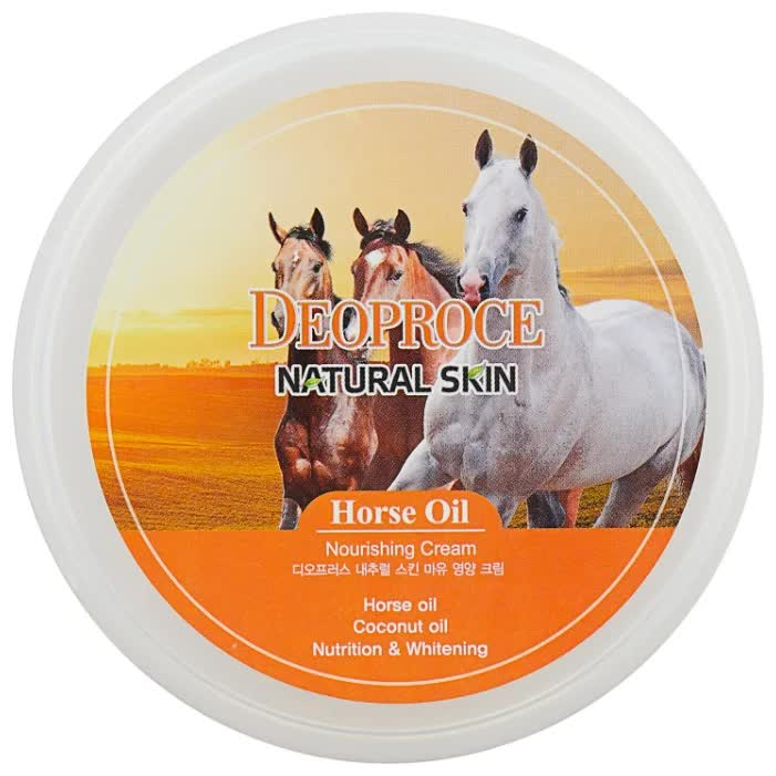 Крем для лица и тела на основе лошадиного жира Deoproce Natural Skin Horse Oil Nourishing Cream 100гр ekel horse oil moisture cream увлажняющий крем для лица с экстрактом лошадиного жира 100 мл