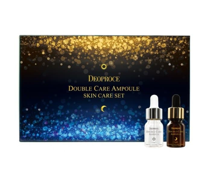 Сыворотка для лица антивозрастная набор Deoproce Double Care Ampoule Day & Night Single Pack 13гр*20 дневной уход deoproce whee hyang doule care ampoule day
