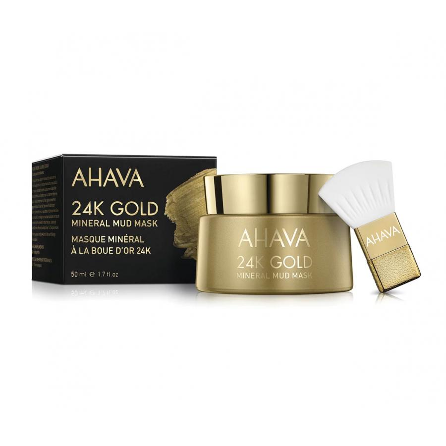 Маска для лица Ahava Mineral Mud Masks 24к, 50 мл, с золотом руки ноги ahava набор elements of love mud rich moments gift set