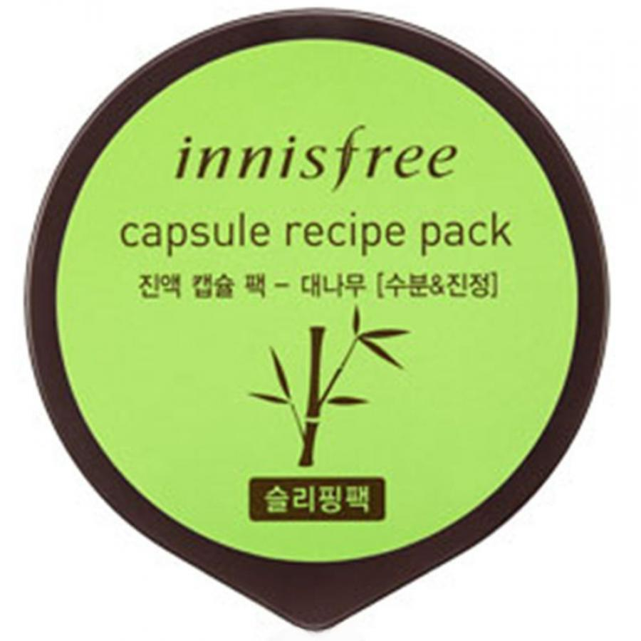 Капсульная маска для лица с экстрактом зеленого чая Innisfree Capsule Recipe Pack Green Tea innisfree 160ml