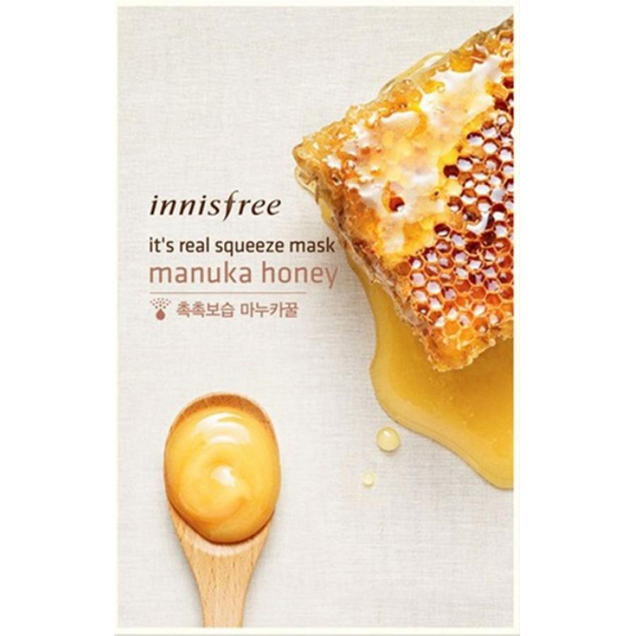 Маска для лица с экстрактом мёда Innisfree My Real Squeeze Mask Manuka Honey цена