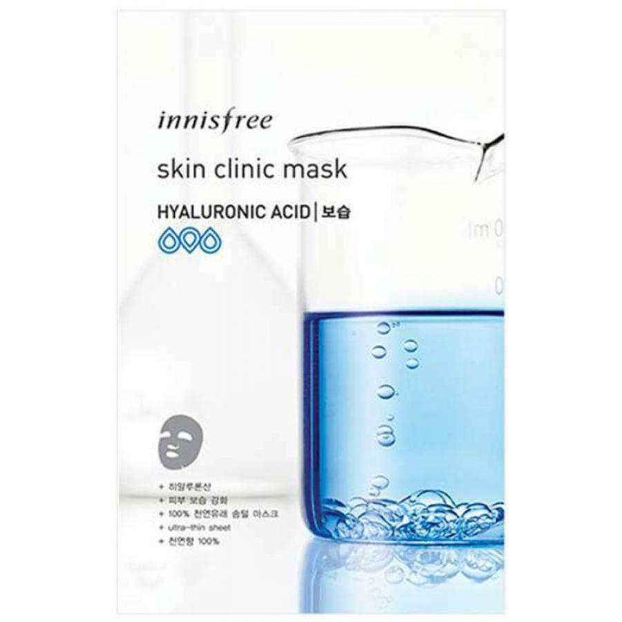 Ультратонкая листовая маска для лица с гиалуроновой кислотой Innisfree Skin Clinic Mask Hyaluronic Acid innisfree 160ml