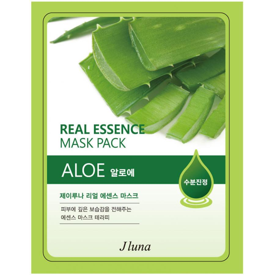 Тканевая маска с алоэ JLuna Real Essence Mask Pack Aloe, 25мл ekel aloe ultra hydrating essence mask маска тканевая с экстрактом алоэ вера 25 гр