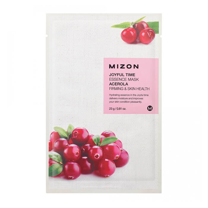 Тканевая маска для лица с экстрактом барбадосской вишни Mizon Joyful Time Essence Mask Acerola недорого