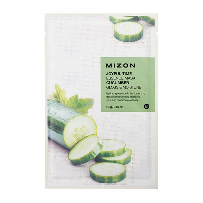 Тканевая маска для лица с экстрактом огурца Mizon Joyful Time Essence Mask Cucumber недорого