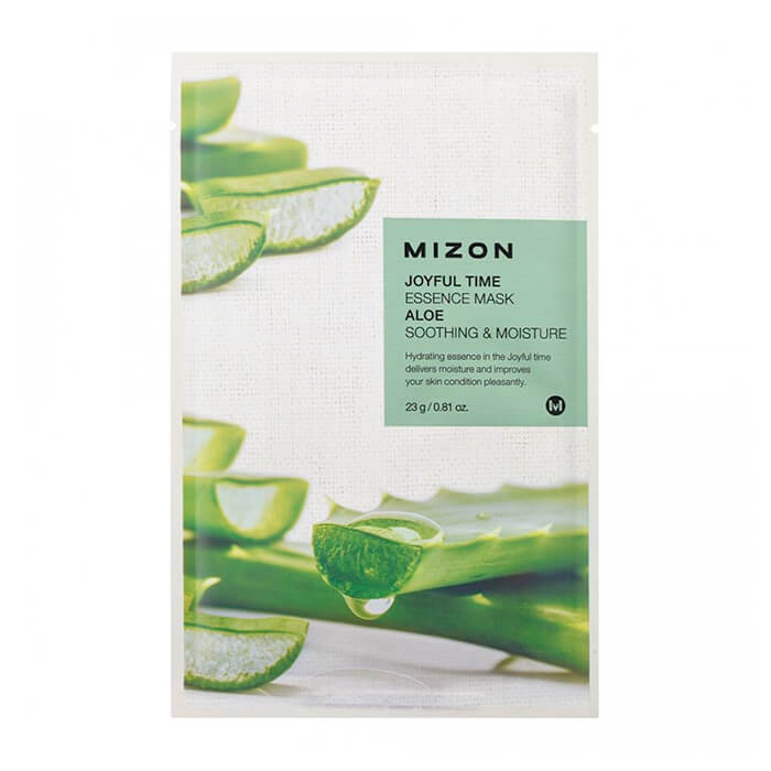 Тканевая маска для лица с экстрактом сока алоэ Mizon Joyful Time Essence Mask Aloe phyto therapy mask тканевая маска с алоэ противовоспалительная sheet aloe polyphenol moisturizing