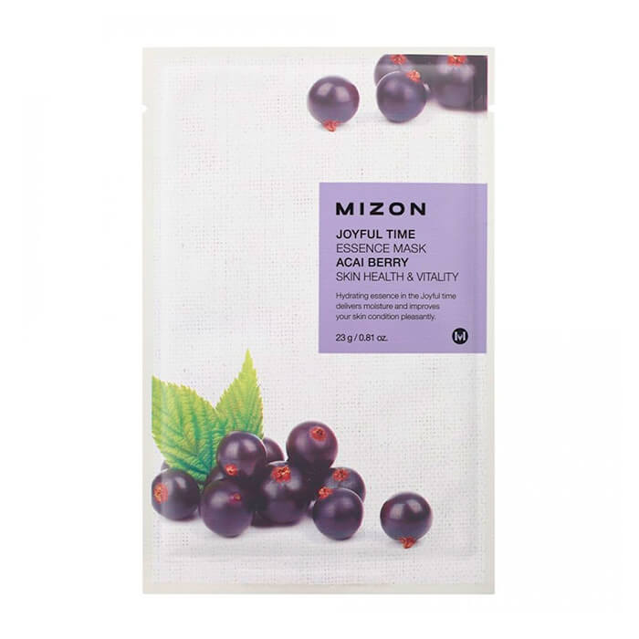 Тканевая маска для лица с экстрактом ягод асаи Mizon Joyful Time Essence Mask Acai Berry journey joyful