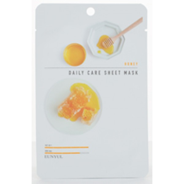 Тканевая маска для лица с экстрактом меда Eunyul Honey Daily Care Sheet Mask, 22g маска из меда для лица
