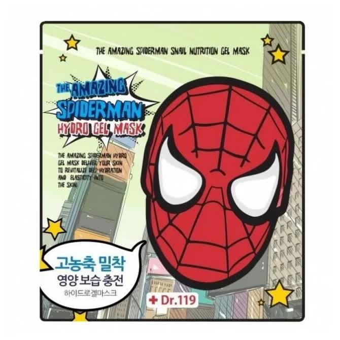 Маска для лица гидрогелевая Dr.119 The Amazing Spiderman Snail Nutrition Gel Mask 30гр