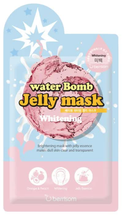 купить Маска для лица с желе осветляющая Berrisom Water Bomb Jelly Mask - Whitening 33мл по цене 150 рублей