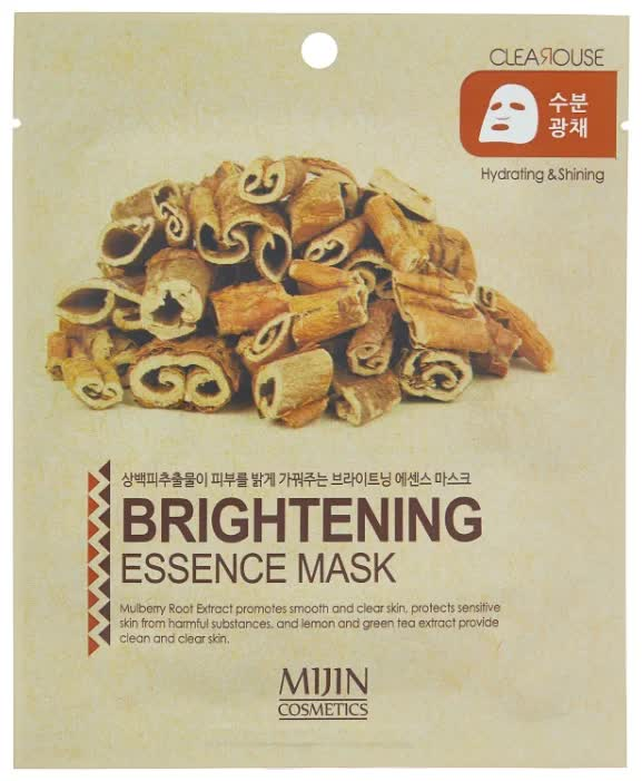 Маска тканевая для лица осветляющая Mijin Cosmetics Brightening Essence Mask 25 г маска тканевая для лица mijin cosmetics platinum essence mask 23 г