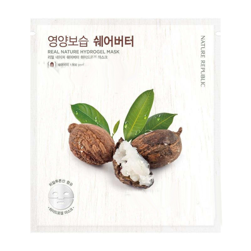 Маска для лица гидрогелевая Nature Republic Real Nature Shea Butter Hydrogel Mask 22 г
