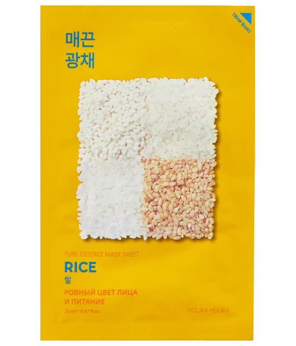 Holika Holika Тканевая маска против пигментации Pure Essence Mask Sheet Rice, рис, 20 мл недорого