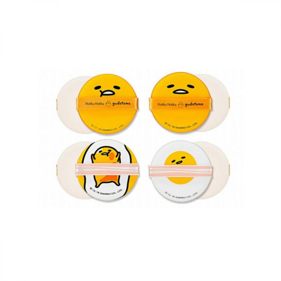 Спонжи Чоп Чоп Holika Holika Gudetama Chop Chop Cushion Puff Set 4P, набор из 4 шт