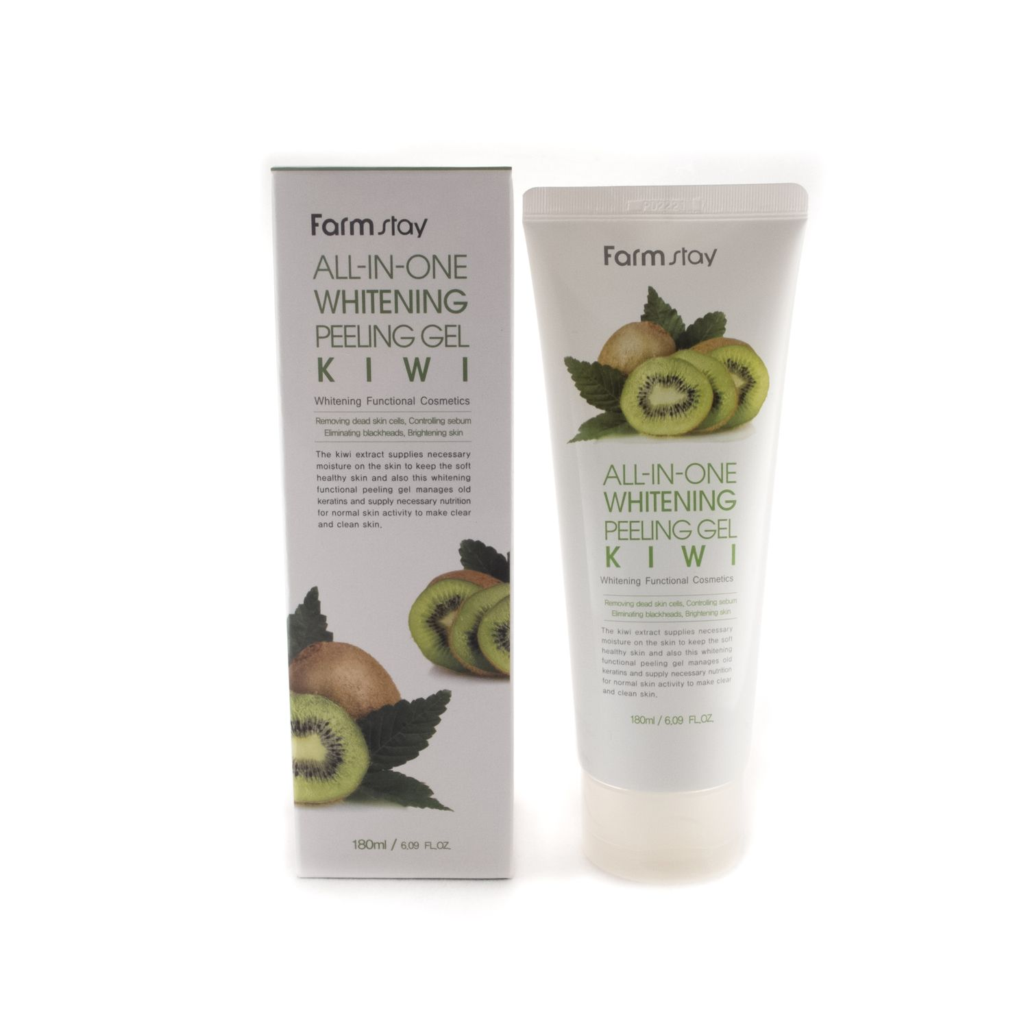 Пилинг-скатка с экстрактом киви FarmStay All-In-One Whitening Peeling Gel Kiwi, 180мл пилинг скатка для ног bioaqua