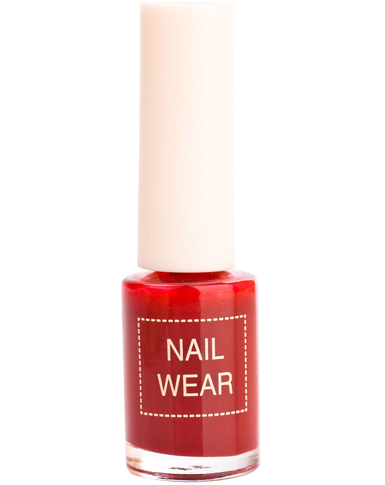 Лак для ногтей The Saem Nail Wear #68. Leather Redwine 7 мл фото