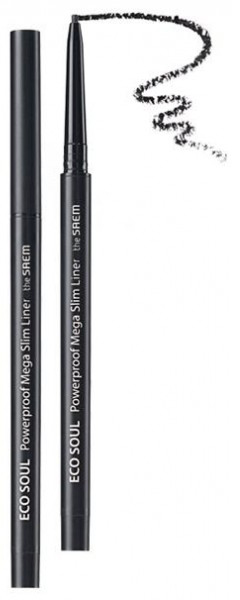 Подводка для глаз тонкая The Saem Eco Soul Powerproof Mega Slim Liner 01 Deep Black 0.07гр mac liquidlast liner подводка для глаз naked bond