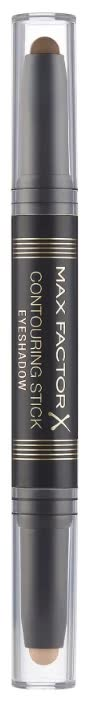 Двухсторонние тени для век Max Factor Сontouring Stick Eyeshadow, Тон 002 amber brown warm taupe
