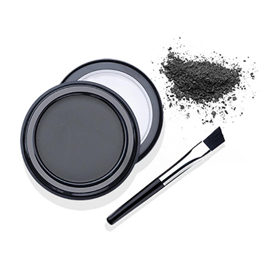 Пудра для бровей с кистью Ardell Brow Defining Powder Soft Black, 2.2 г, тон светло-черная пудра для бровей brow defining powder 2 2г с зеркалом soft taupe