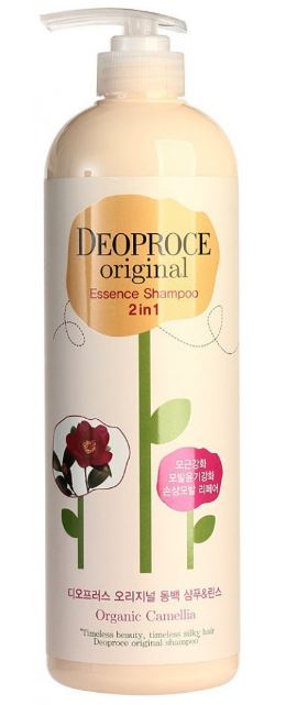 Шампунь-бальзам 2 в 1 камелия Deoproce Original Essence 2 in 1 Shampoo Camellia 1000мл недорого