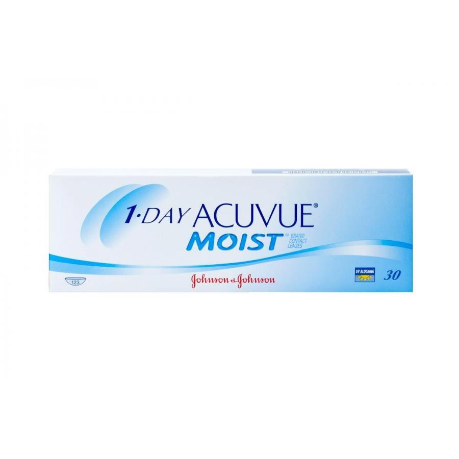 Контактные линзы Acuvue 1-Day Moist, 30 шт, R:8,5 D:-04,00 контактные линзы johnsonjohnson 1 day acuvue moist 30 шт r 9 d 4 5