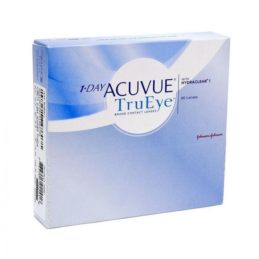Контактные линзы Acuvue 1-Day TruEye, 90 шт, R:8,5 D:-01,25 контактные линзы johnsonjohnson 1 day acuvue trueye 90 шт r 8 5 d 7 0