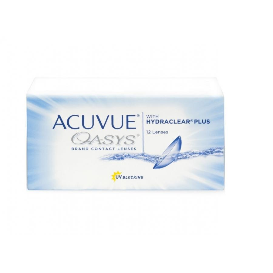 Контактные линзы Acuvue Oasys with Hydraclear Plus, 12 шт, R:8,8 D:-04,25