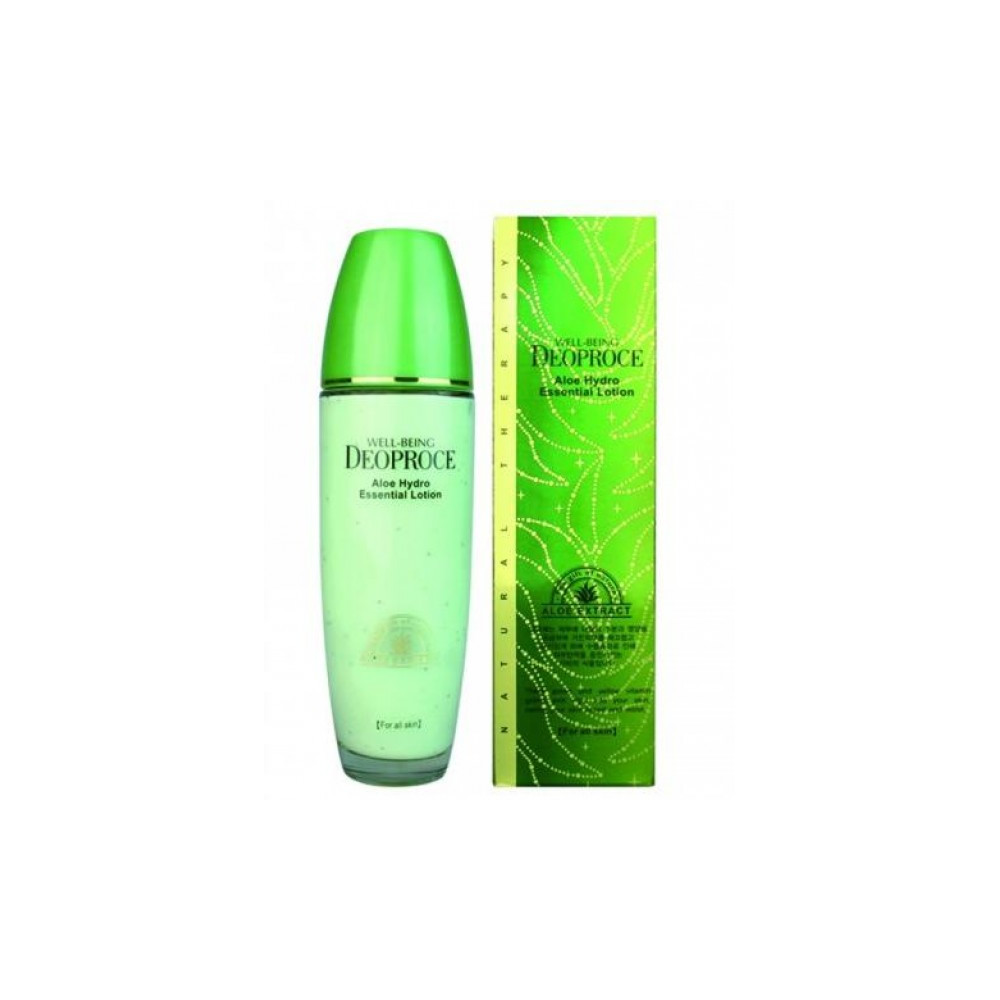 Лосьон для лица с экстрактом алоэ Well-Being Deoproce Aloe Hydro Essential Lotion 50мл deoproce мист well being hydro
