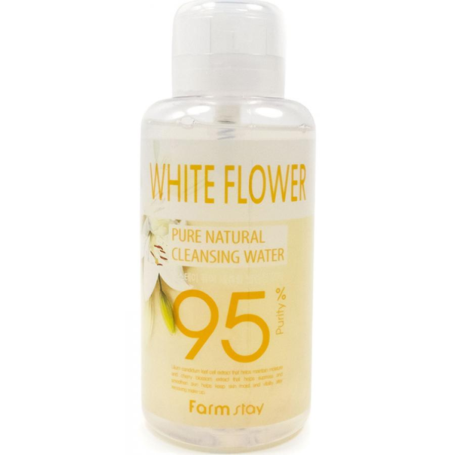 Очищающая вода FarmStay Pure Natural Cleansing Water White Flower, 500мл