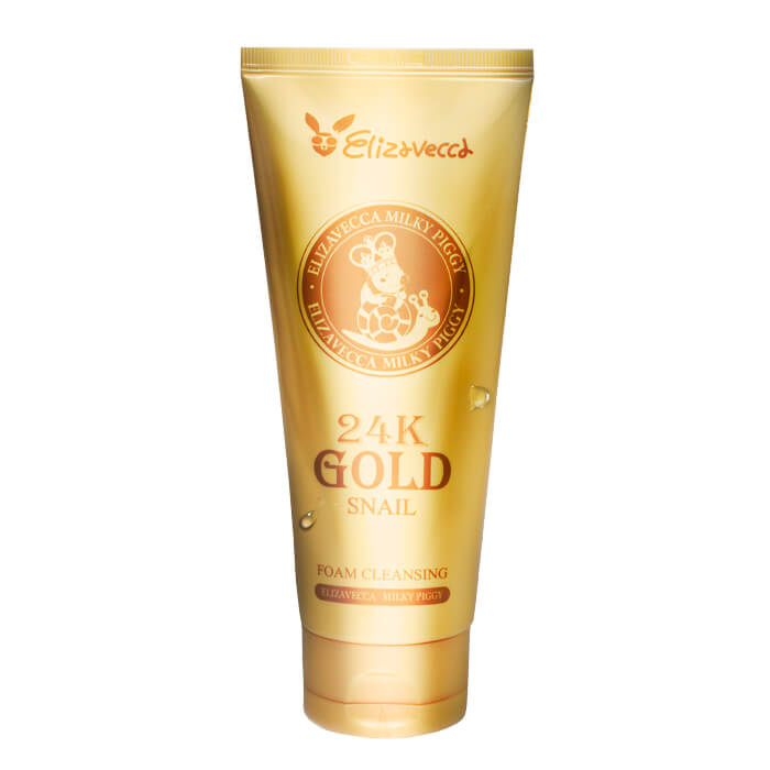 Пенка для умывания с золотом и муцином улитки Elizavecca 24K Gold Snail Cleansing Foam shiying g4ec73d733d092 fashion men s 361l stainless steel 24k gold earrings golden pair