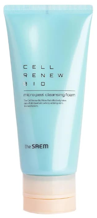 Пенка для умывания The Saem Cell Renew Bio Micro Peel Cleansing Foam 170мл