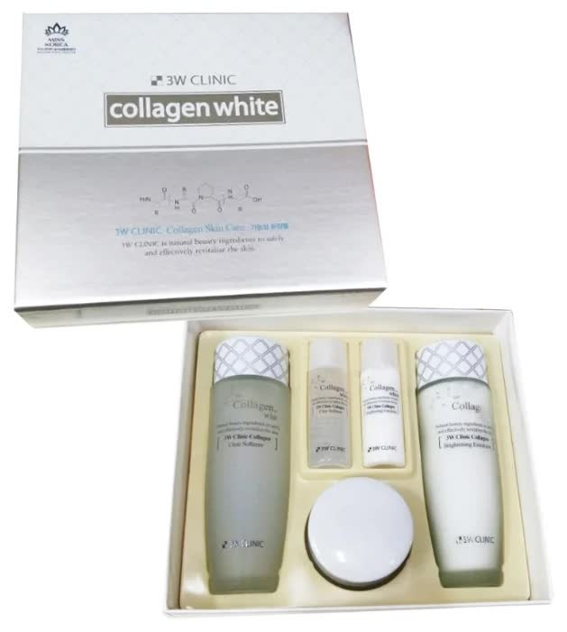 Набор для ухода за лицом 3W Clinic Collagen Whitening Skin Care Items 3 Set coolhair collagen system набор